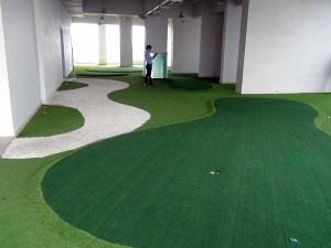 ゴルフの練習スペースも用意されています