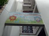 なかよし幼稚園は5階建ての園舎です