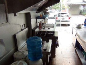 給食室はいつも清潔にキープされていました