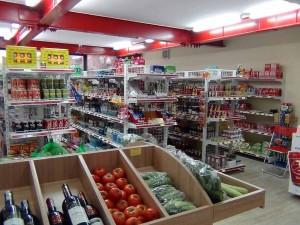 品数豊富な1階のスーパー