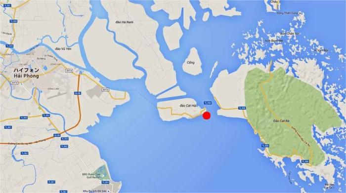 「ラックフェン国際大水深港」の位置図