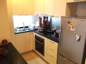 Somerset Hoa Binh Hanoiの1bedのキッチン「完璧に備わっています」