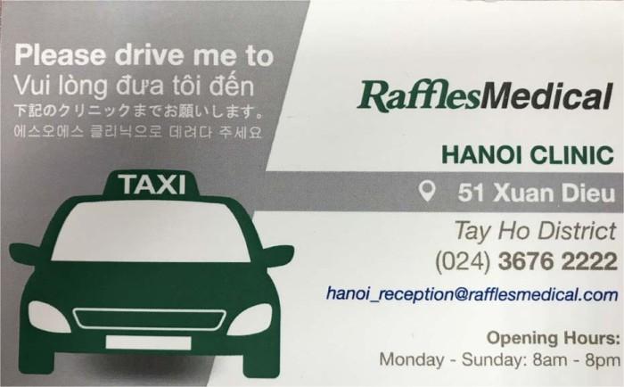 いざというときは、この情報をタクシードライバーに見せてください