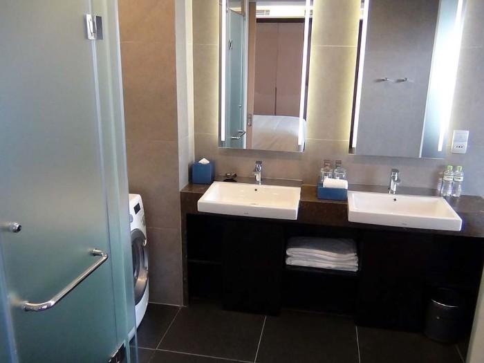 洗面の仕様は全室同じ「必ず2つ設置されています」