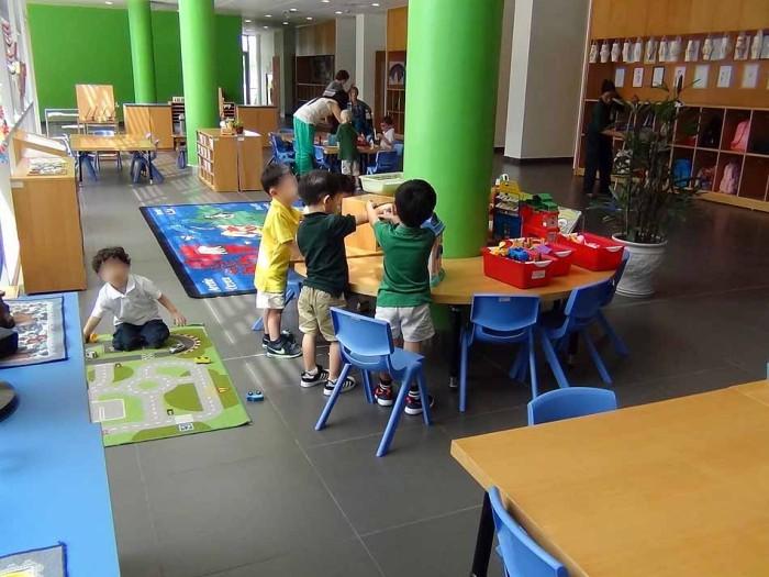 子供たちが熱中して遊べる遊具が豊富に揃っています