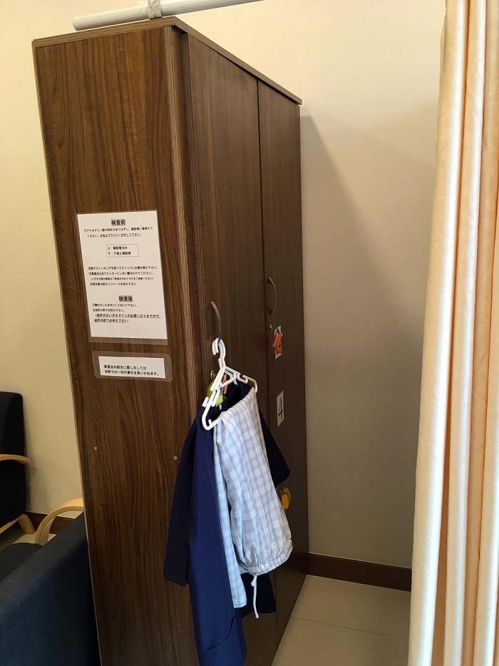 綺麗に清掃された更衣室でした