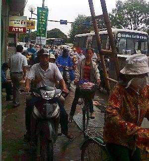 ハノイの交通渋滞