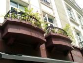 The Manor各戸にあるベランダの花壇スペース
