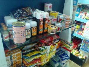 日本の商品もたくさん陳列されています