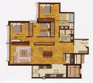 3ベッドルーム(Executive:156㎡)