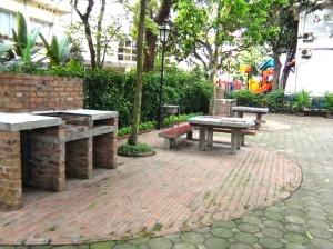 敷地内のバーベキュースペース
