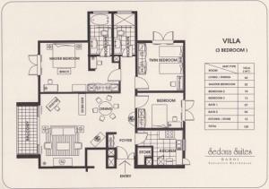 Sedona Suites 3LDK_VILLA(128㎡)