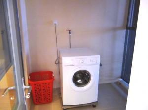 洗濯スペースもしっかり確保されています。