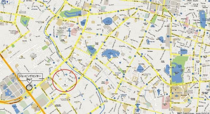 チュンホアニャンチンの付近地図