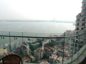 20階から見下ろすタイ湖のレイクビュー