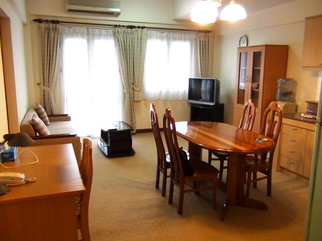 2ベッドルームのリビングスペース