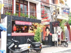 Linh Lang(リンラン)通りにある日本レストラン「NEW SAKE3」
