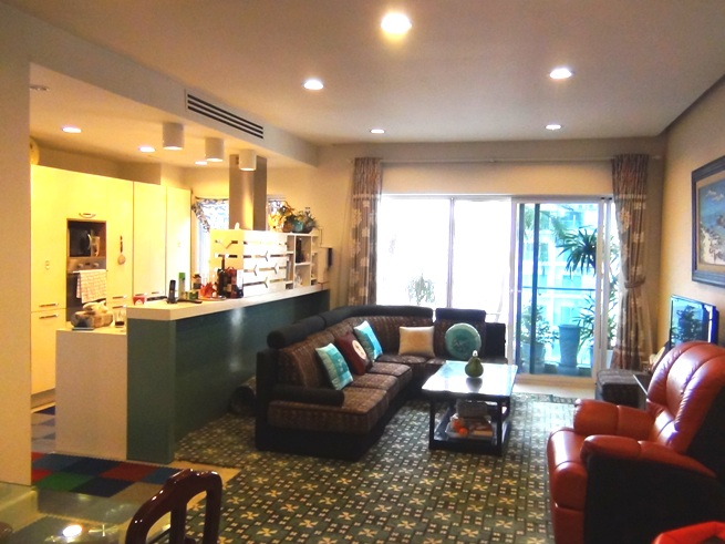 12階2ベッドルーム(115㎡)のリビングスペース