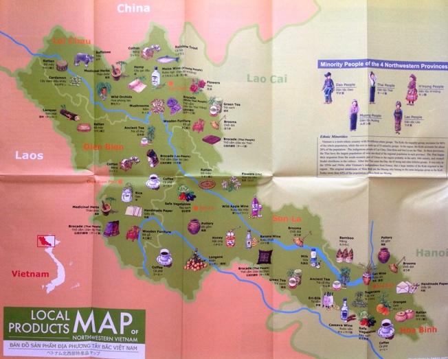 ベトナム北西部特産品マップ