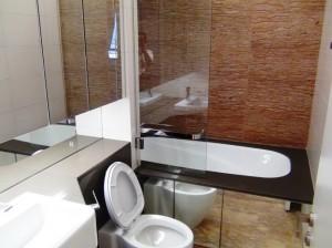 メインのバスルーム「当然バスタブも付きます」