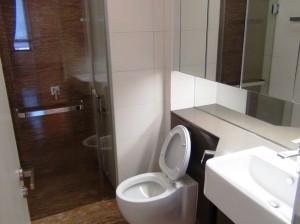 2ベッドルーム2バスルームが基本、これはサブバスルームです