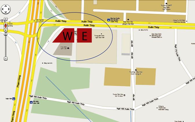 INDOCHINAウエスト棟とイースト棟の配置図