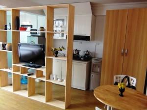 最上階のStudioタイプのキッチンスペース