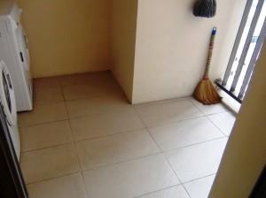キッチン横のバルコニースペース