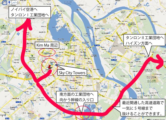 Sky City Towersの位置関係の説明図