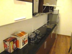 1ベッドルームのキッチン