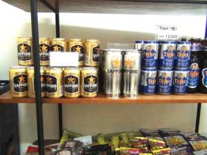日本のビールも置いています