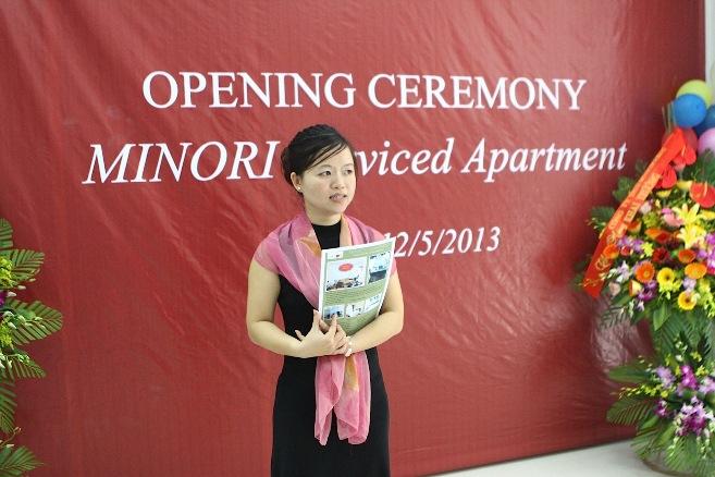 MINORIアパート代表の「Hoa」さん、日本語がとても上手な才女です