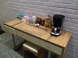 1階レセプション横にある「モーニングコーヒーサービス」