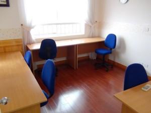 自習室「静かに勉強できるスペースです」