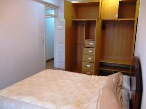 1ベッドルームの主寝室