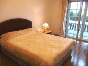 1ベッドルームのメインベッド