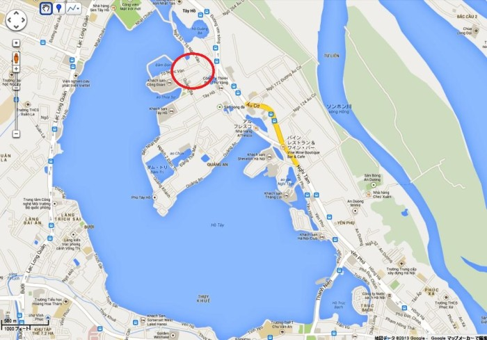 海外の大使館員の方々が好んで住むVillaがあるエリア「To Ngoc Van通り」