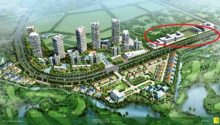 高級ゴルフクラブ「Van Tri Golf Club」に隣接する「Hanoi Exclusive Eco Town」内に設立予定の「Concordia International School Hanoi」