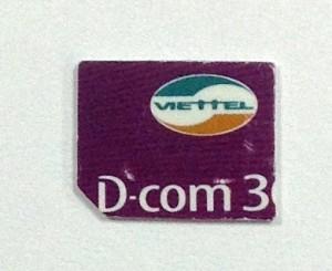 SIMカッターで作ったVIETTELのSIMカード