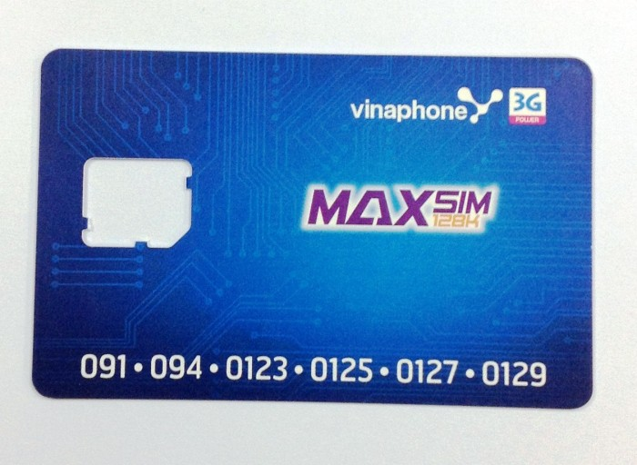 vinaphoneのマイクロSIM