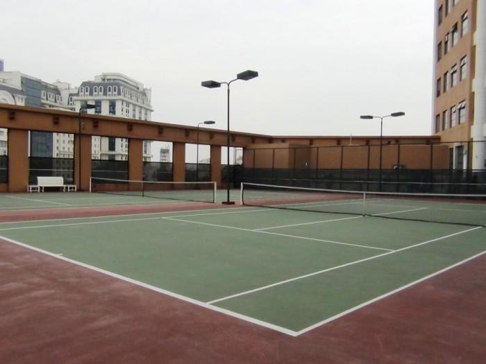 テニスコートは2面あります