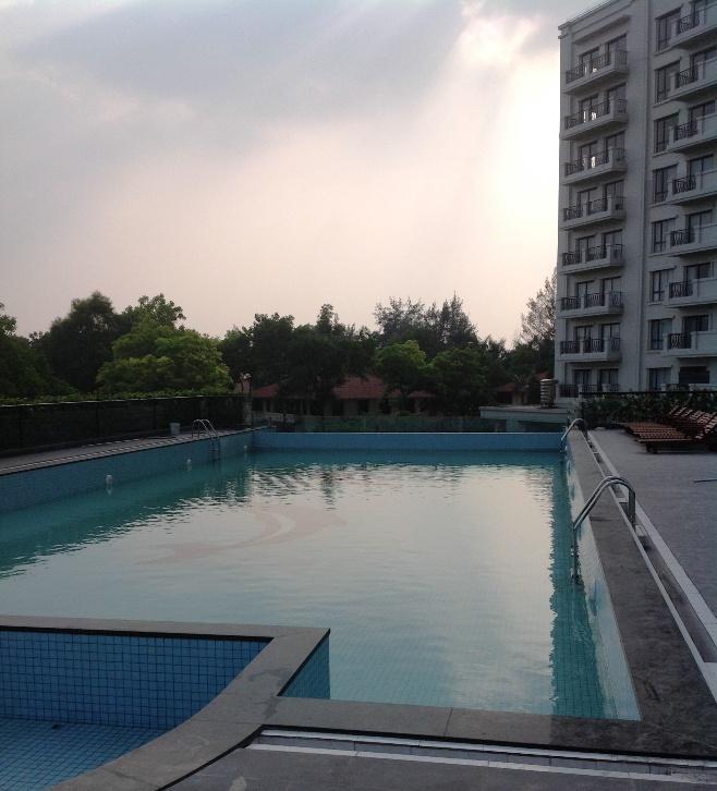 大人がしっかり泳げるスペースは確保されています。