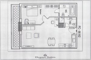 1ベッドルーム(86㎡:2階~12階部分):2.420ドル~3.245ドル