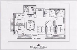 4ベッドルーム(202㎡:9階~12階部分):4.840ドル~4.950ドル