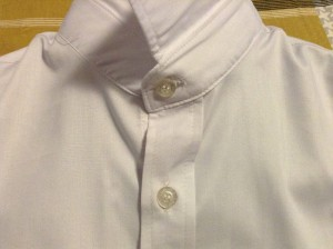 ワイシャツ首