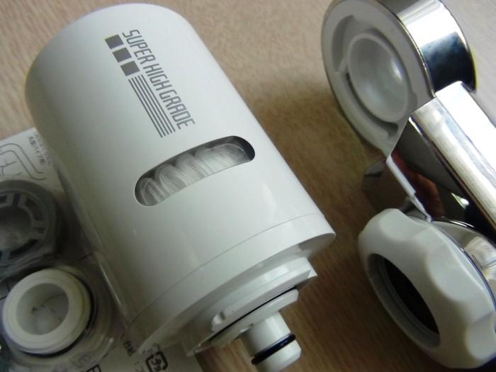 浄水器に使われているろ材は日本の公共の浄水場で使われているものとと同じレベルです