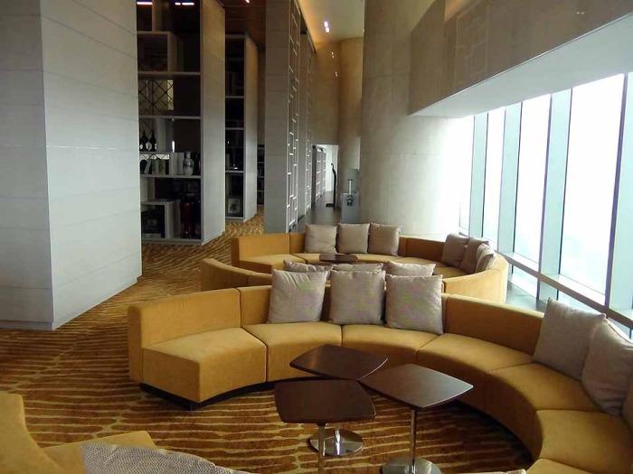 38階の憩いスペース「レジデンスにお住まいの方のご友人は出入り可能です