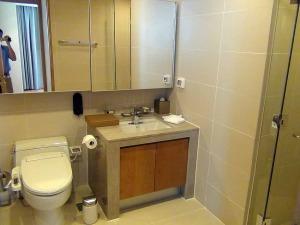 洗面の標準はウォシュレットとミラー裏の小物収納スペースとバスタブ・シャワーブースがセパレートになっていることです