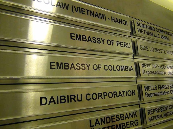各国の大使館がたくさん契約しています