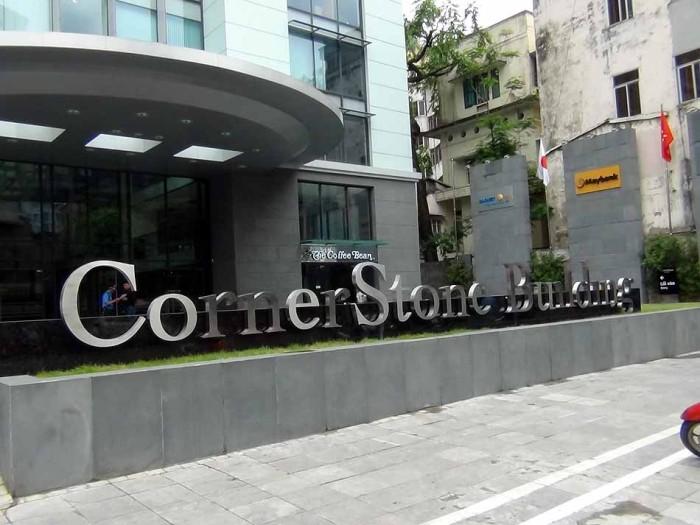 2013年6月に竣工したハノイの一等地に建つオフィスビス「CornerStone Building」